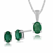 Oval White Gold Fine Diamond & Gemstone Jewellery Sets