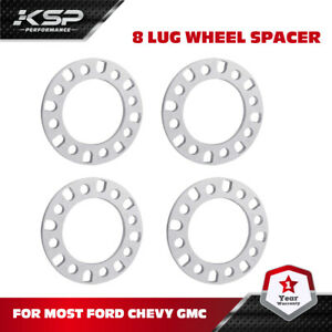 "4x 8x180 8 Lug Wheel Spacers 1/2"" Inch fits Chevy GMC 2500 3500 Silverado Sierra"