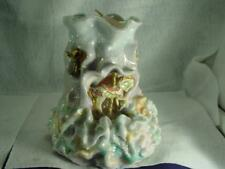 """Large Pillar Candle 7"""" X 6"""" Wax Hand Crafted Carousel Sculpture Gliter Angel New"""