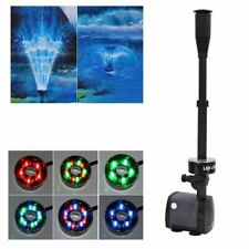 Changing LED Fountain Pump Aquarium Pond Garden Fountain Submersible Pump