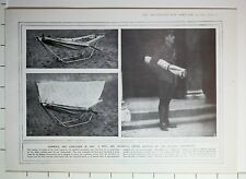 1915 WWI WW1 PRINT HAMMOCK & STRETCHER IN ONE DEVICE ADOPTED BELGIAN GOVERNMENT