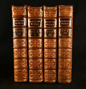 1721 4vol The Works of the Right Honourable Joseph Addison 1st