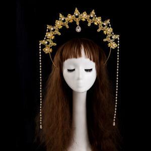 Lolita Girl's Golden Halo Crown Headband Lolita Hair Hoop Costume Headpiece