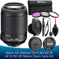 Nikon 55-200mm DX AF-S VR II Lens Kit for D5200 D5300 D5100 D3200 D3300 D7100