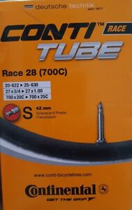 Continental Bike Inner Tube Race 28 700 20 25 Presta 42mm Cycle Valve new boxed