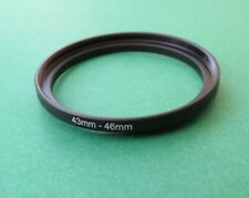 43mm-46mm Stepping Step Up Male-Female Filter Ring Adapter 43mm-46mm