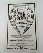 Jesus Christ Superstar Andrew Lloyd Webber 1993 Show Poster Trump Taj Mahal