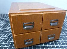Bauhaus Schubladenschrank Karteischrank Kontor Holz vintage 30er 50er Loft