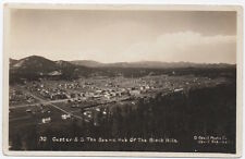 Real Photo Postcard Scenic Hub of the Black Hills in Custer, South Dakota~106785