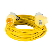 Defender E85111 110v 14m 1.5mm 16A Extension Lead Trailing Lead Yellow