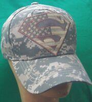 USA Superman Flag Camouflage Baseball Cap/ Hat Adjustable Camo Hat