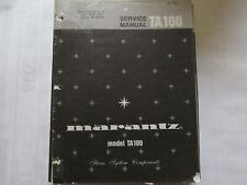 New listing Marantz Ta100 Stereo System tuner Original Service Repair Manual