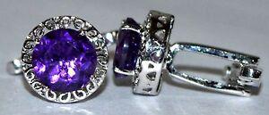 925 Sterling Silver Amethyst Cufflinks Stone 6.4 Ct Amethyst Wedding Cufflinks