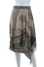 Etro Paisley Print Asymmetric Wool-Silk Blend Skirt / Multi / RRP: £860.00
