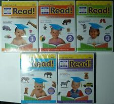 YOUR BABY CAN READ 5 DVD SET Early Language Development System ~ USED