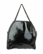Women shoulder bag Falabella Inspired in real leather Made in Italy black