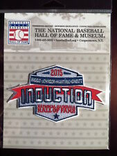 MLB Hall of Fame Induction Patch 2015 Biggio Johnson Martinez Smoltz