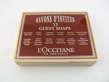 L'Occitane 12 Guest Soap sealed wooden box Coffret 12 savons France