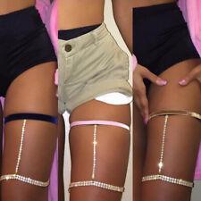 Sexy Body Crystal Rhinestone Thigh Waist Leg Bikini Jewelry 2019