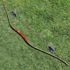 30lbs 60'' Traditional Archery Laminate Recurve Bow Longbow Hunting Practice