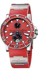 Ulysse Nardin Maxi Marine Diver Red VERY RARE Watch 263-33