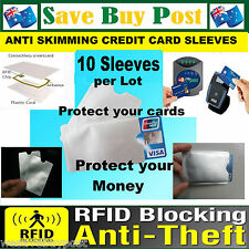 10pcs RFID Credit Card Wallet Protector Sleeve Holder ID Blocking Anti Skim Scan
