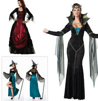 Deluxe Women Witch Costume Adult Halloween Party Fancy Dress Outfit