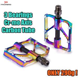 PROMEND Carbon Aluminium Mountain Bicycle Pedal MTB Road Bike Pedal 3 Bearings