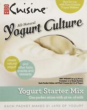 Euro Cuisine All Natural Yogurt Culture Starter Mix - Contains 10 5 Grams Packs
