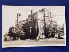 Vintage Real Picture Postcard Cheboygan Michigan City Hall
