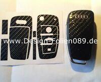 Carbon 4D Folie Dekor Schlüssel Audi TT A1 8J A6 A3 8P A4 4F S3 S4 B7 Q7 RS uvm.