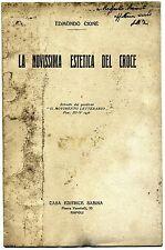 Edmondo Cione#LA NOVISSIMA ESTETICA DEL CROCE#Casa Editrice Sabina Napoli 1937