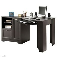 NEW Corner Computer Desk (L-shaped Home Office laptop), Espresso, Free Delivery
