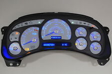 03-04 CUSTOM ESCALADE WHITE GAUGE LED REPLACEMENT CLUSTER BLUE/SILVER $50 CORE