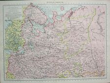 1934 LARGE MAP ~ NORTH RUSSIA ~