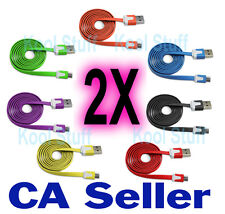 2X Color 1M Micro USB Flat Data Sync Charger Cable Samsung HTC BlackBerry Nokia