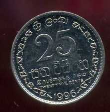 SRI LANKA   25 cents 1996  ( bis )