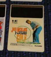 GAME/JEU NEC PC-ENGINE HU-CARD JAPANESE JACK NICKLAUS CHAMPIONSHIP GOLF JAPAN