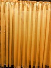 1 Store Vorhang Gardine Streifen transparent gelb Kräuselband H/B 245 x 450