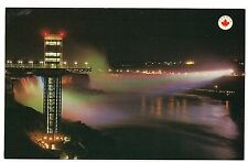 NIGHT VIEW Glass ELEVATOR and TOWER American NIAGARA FALLS Canada Postcard