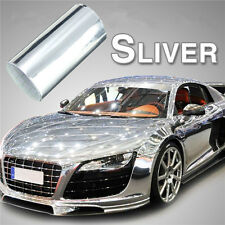 "4""x60"" Car Mirror Chrome Silver Vinyl Wrap Sticker Decal Film Sheet Air Release"