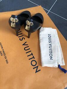 Authentic Louis Vuitton Black Leather High Heel Shoes. Size 39/UK 6 +Dust Bag