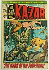 ASTONISHING TALES#13 FN 1972 MARVEL BRONZE AGE COMICS