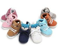 Newborn Infant Baby Crib Shoes Toddler Boy Girl Booties Pre Walker Trainers 0-18