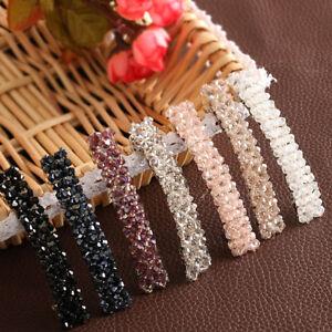 Bling Crystal Hairpin Headwear Women Girls Rhinestone Hair Clip Pins Barrettes N
