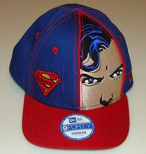 Superman Face Front New Era Cap Hat 9forty Toddler DC Comics Adjustable Kids