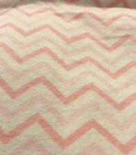 Nursing Pillow Cover Pink and White Chevron flannel fabric Fits Boppy Pillow