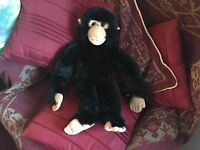 "THE PUPPET COMPANY 20""  MONKEY CHIMPANZEE BLACK HAND ARM GLOVE PUPPET SOFT TOY"
