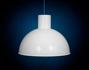 Fog & Morup 1970s White Bunker Maxi HUGE Danish Pendant Lamp Vintage Industrial