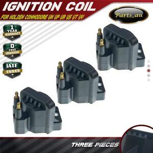 3x Ignition Coil Pack for Holden Commodore VN VP VR VS VT VX VU WH VK VY V6 3.8L